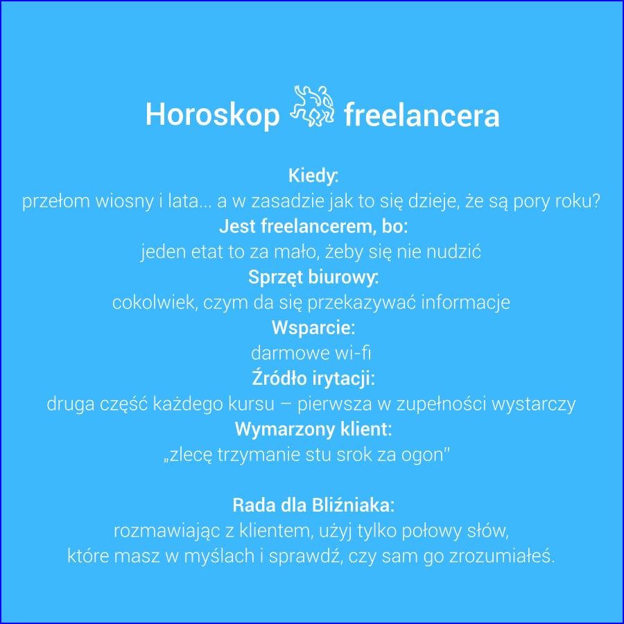 Horoskop freelancera - Bliźnięta