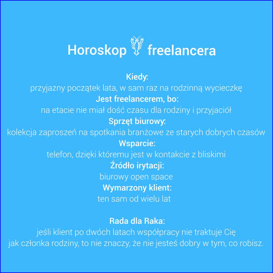 Horoskop freelancera - Rak