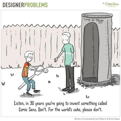Problemy grafików w humorystycznej formie