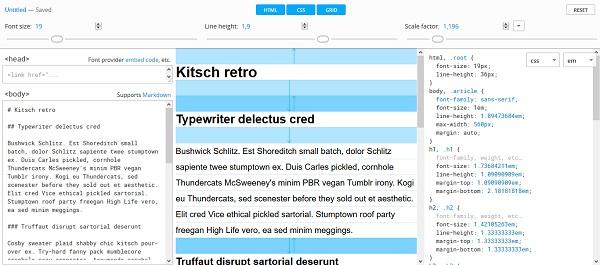 Kalkulatory typograficzne dla webdesignerów: CSS Gridlover