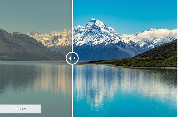 Darmowe akcje Photoshop dla początkujących grafików - Landscape