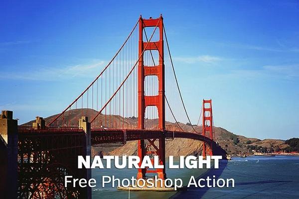 Darmowe akcje Photoshop dla początkujących grafików - Natural light