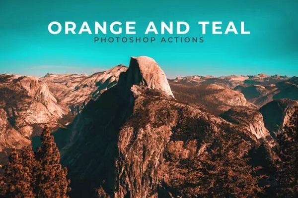 Darmowe akcje Photoshop dla początkujących grafików - Orange and Teal
