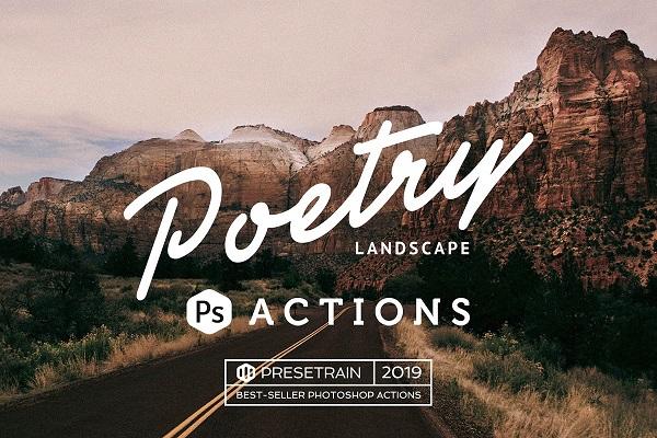 Darmowe akcje Photoshop dla początkujących grafików - Poetry