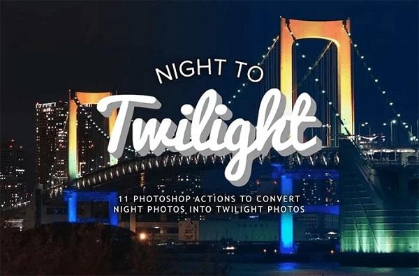 Darmowe akcje Photoshop dla początkujących grafików - Twilight