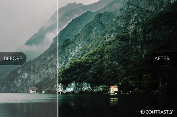 Darmowe akcje Photoshop dla początkujących grafików - Vibrant landscapes