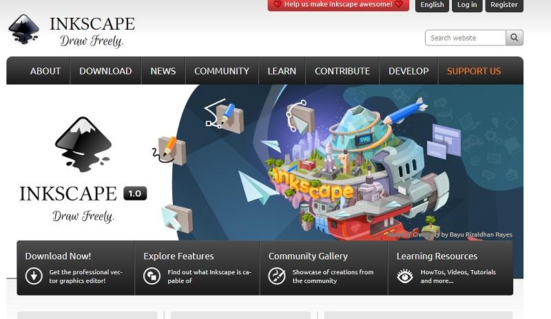 Darmowe programy do obróbki grafiki wektorowej - Inkscape