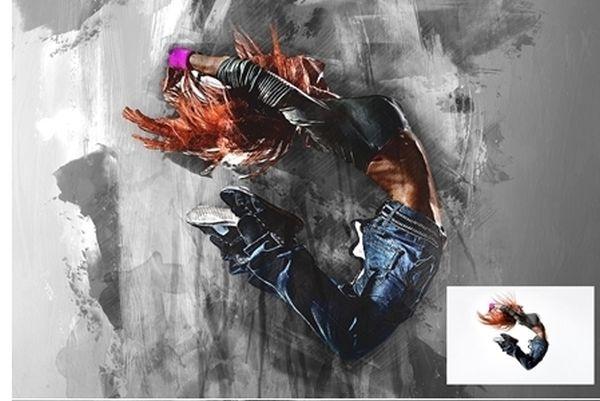Akcje Photoshopa dla freelancerów: malarstwo olejne