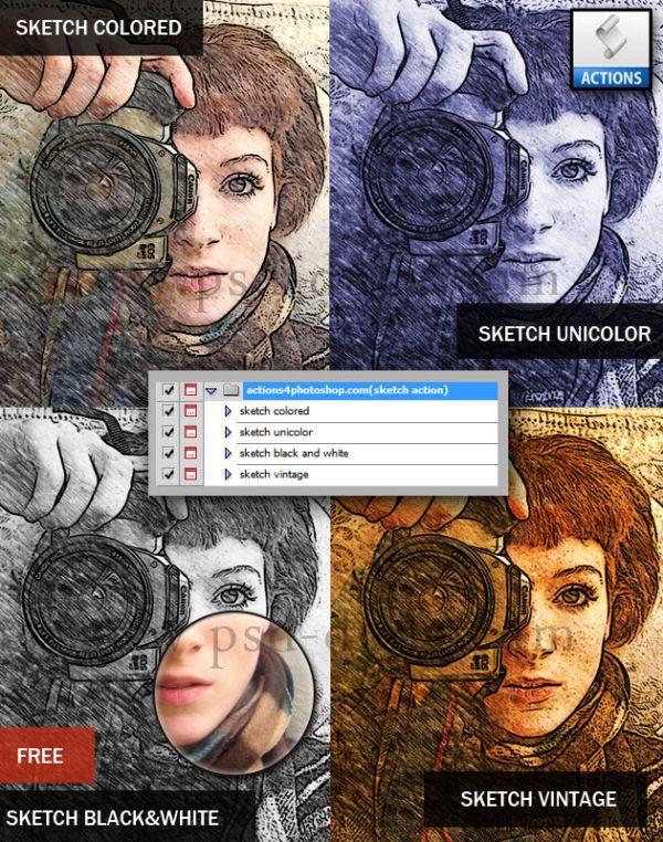 Akcje Photoshopa dla freelancerów: szkic