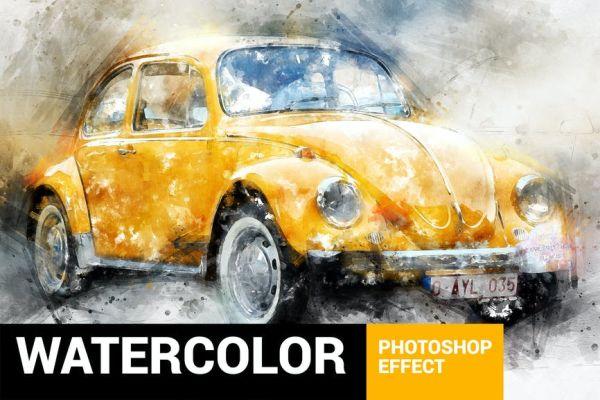 Akcje Photoshopa dla freelancerów: akwarela
